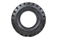Neumático de coche aislado en el fondo blanco Imágenes de archivo libres de regalías