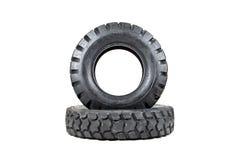 Neumático de coche aislado en el fondo blanco Neumático del camión aislado vaciado Fotografía de archivo