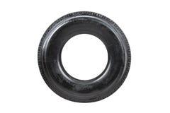 Neumático de coche aislado en el fondo blanco Neumático del camión aislado vaciado Fotos de archivo