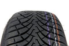 Neumático de coche del invierno Imágenes de archivo libres de regalías