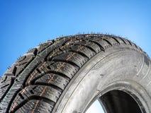 Neumático de coche del invierno Fotografía de archivo