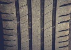 Neumático de coche del primer Fotos de archivo