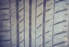 Neumático de coche del primer Imagenes de archivo