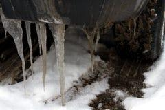 Neumático de coche en invierno Foto de archivo libre de regalías