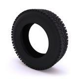 Neumático de coche en un fondo blanco Imagen de archivo