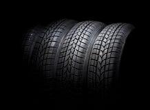 Neumático de coche negro foto de archivo