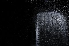 Neumático de la lluvia Imágenes de archivo libres de regalías