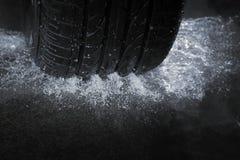 Neumático de la lluvia Fotos de archivo