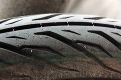 Neumático de la motocicleta Fotografía de archivo
