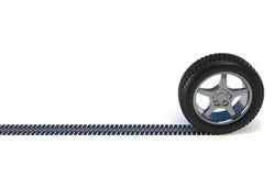 Neumático de la rueda de coche Fotografía de archivo libre de regalías
