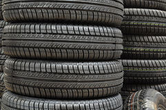 Neumático de los neumáticos de coche Imagen de archivo libre de regalías
