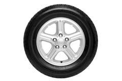 Neumático del coche aislado con el camino de recortes Fotos de archivo