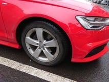 Neumático del coche de Audi foto de archivo