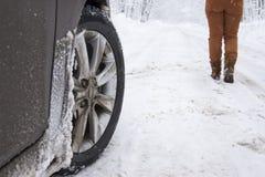 Neumático del invierno Imágenes de archivo libres de regalías