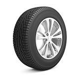 Neumático del invierno del coche aislado Fotos de archivo