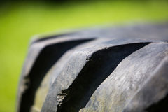 Neumático del neumático del tractor Imagen de archivo libre de regalías