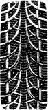 Neumático del rastro stock de ilustración