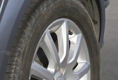 Neumático en un cierre para arriba Fotos de archivo libres de regalías