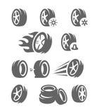 Neumático negro del vector Fotos de archivo