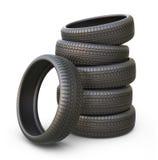 Neumático o neumático de goma de coche icono 3D Foto de archivo
