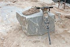 Neumático perfore adentro la mina Fotos de archivo