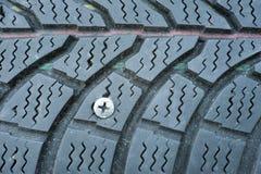 Neumático plano Imagen de archivo libre de regalías
