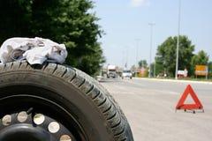 Neumático plano Fotografía de archivo