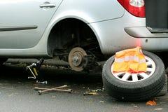 Neumático plano Fotos de archivo