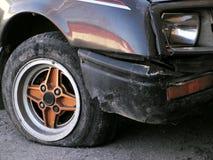 Neumático plano Imagen de archivo