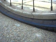 Neumático plano de la bici Foto de archivo libre de regalías