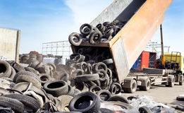 Neumático que recicla industria imagen de archivo libre de regalías
