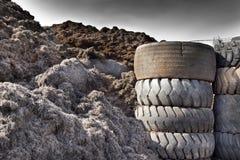 Neumático que recicla industria imagen de archivo