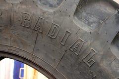 Neumático radial de la granja Imágenes de archivo libres de regalías