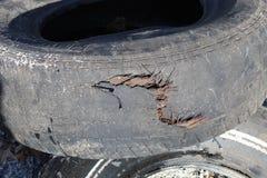 Neumático soplado foto de archivo libre de regalías