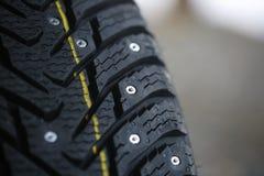 Neumático tachonado Foto de archivo