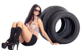 Neumático y disco. Imagen de archivo