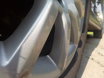 Neumático y rueda Fotografía de archivo