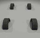 Neumáticos ilustración del vector