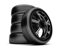 neumáticos 3d ilustración del vector