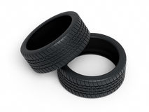 Neumáticos de automóvil Fotografía de archivo