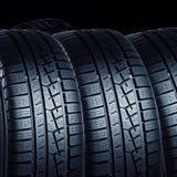 Neumáticos de coche Imágenes de archivo libres de regalías