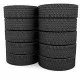 Neumáticos de coche foto de archivo libre de regalías