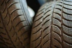 Neumáticos de coche usado Fotografía de archivo