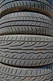 Neumáticos de goma Imágenes de archivo libres de regalías