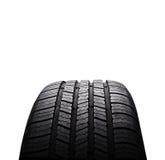 Neumáticos de goma negros del automóvil aislados en blanco Foto de archivo libre de regalías