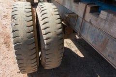 Neumáticos del camión Fotografía de archivo libre de regalías