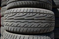 Neumáticos del caucho del coche Imágenes de archivo libres de regalías