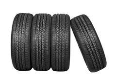 Neumáticos del coche Imágenes de archivo libres de regalías