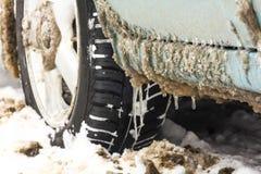 Neumáticos del fango y de nieve Fotos de archivo libres de regalías