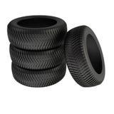 Neumáticos del invierno Foto de archivo libre de regalías